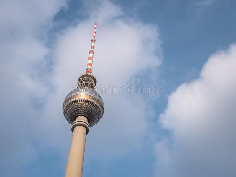 Iconic Berlin TV Tower Building. Iconic TV Tower Building on the Berlin skyline stock image