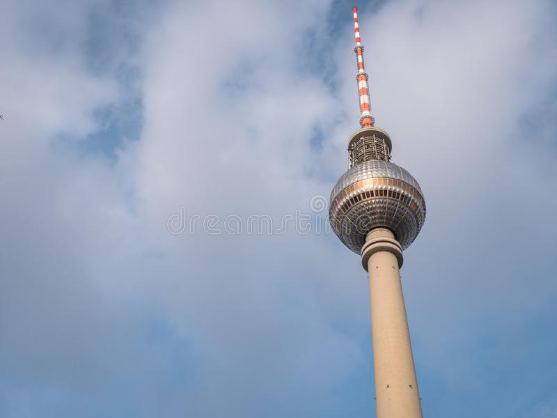 Iconic Berlin TV Tower Building. Iconic TV Tower Building on the Berlin skyline royalty free stock photography