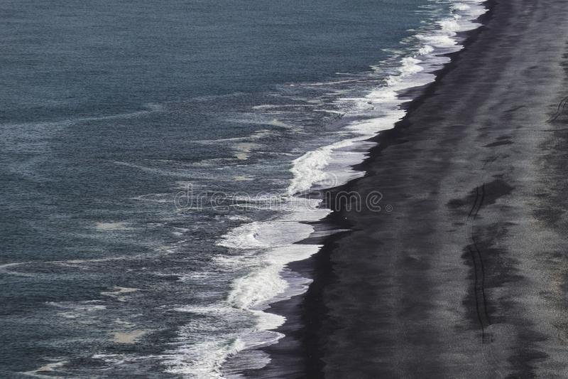 The Iconic Black Beach of South Iceland royalty free stock images