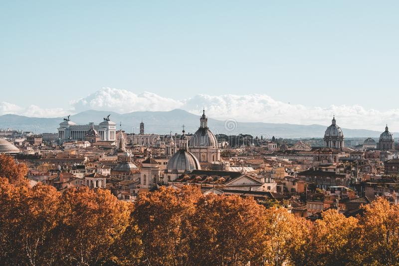 The iconic buildings of Rome shot during a studytrip royalty free stock photos