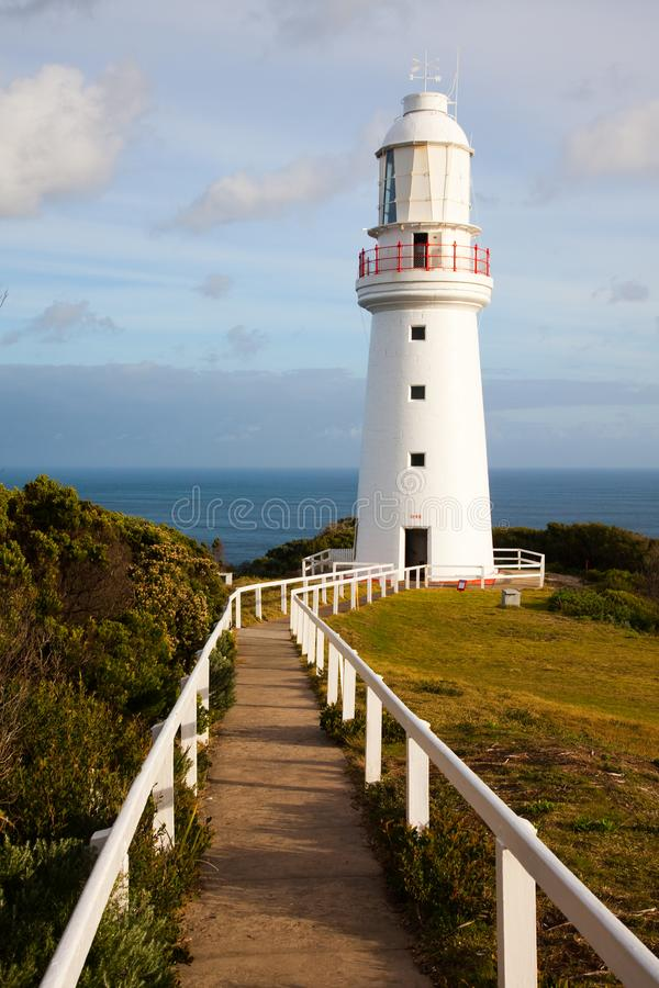 The iconic Cape Otway Lighthouse on the Great Ocean Road, Victor stock images