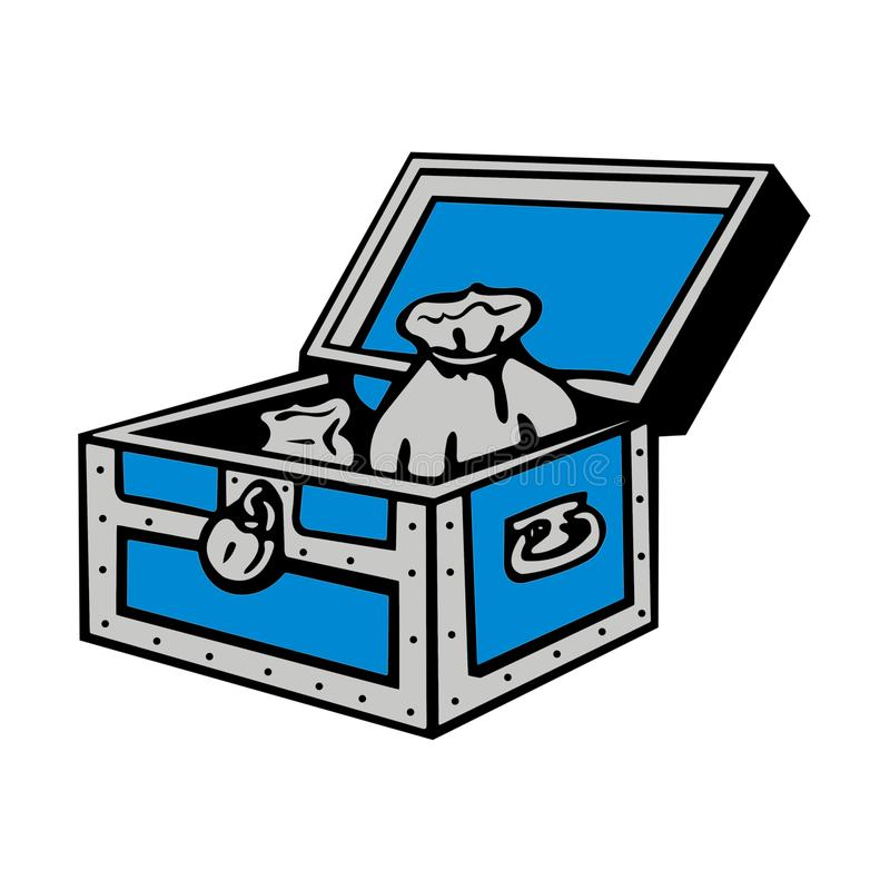 Monopoly Community Chest. The iconic community chest on the Monopoly game board where you pick a community chest card and follow the instructions when you land royalty free illustration