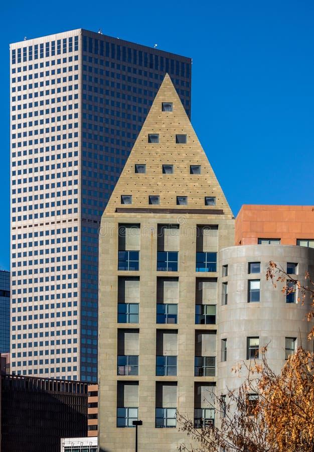Iconic Denver, Colorado, arquitetura foto de stock royalty free