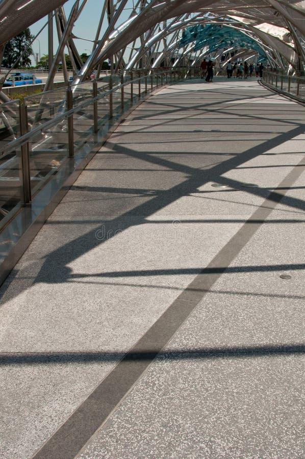 iconic dubbel spiral för bro arkivfoton