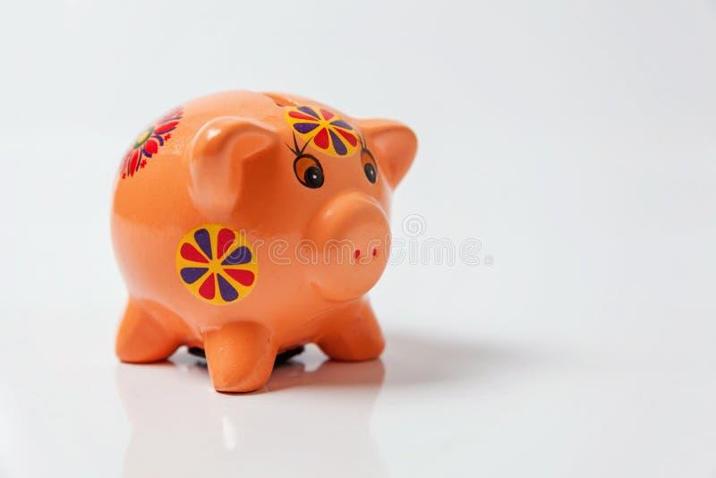 iconic för klassiska begrepp för affär för områdesbakgrundsgruppen isolerade finansiellt många piggy rosa symbolwhite för pengar royaltyfri fotografi