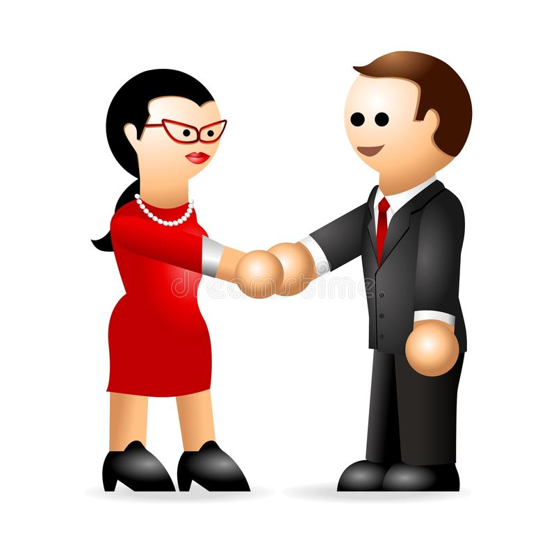 Download Iconic Figure_Business Deal Stock Illustration - Image: 14436909