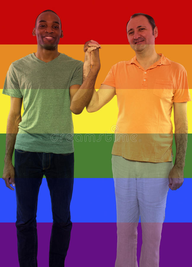 Iconic Gay Image Style. Iconic image style used in social media to celebrate legalization of same-sex marriage royalty free stock photos