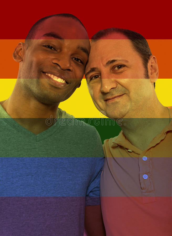 Iconic Gay Image Style. Iconic image style used in social media to celebrate legalization of same-sex marriage royalty free stock photography