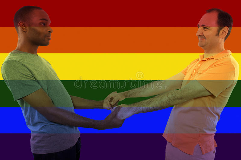 Iconic Gay Image Style. Iconic image style used in social media to celebrate legalization of same-sex marriage royalty free stock images
