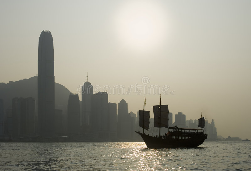 Iconic Hong Kong Harbour View stock images