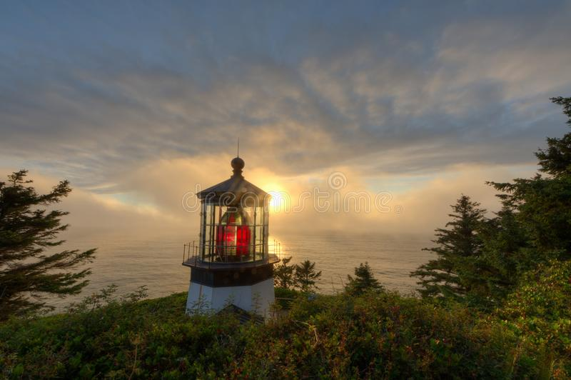 Cape Mears Lighthouse on the Oregon Coast royalty free stock photography