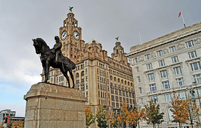 Download Iconic Liverpool stock image. Image of holiday, famous - 27198083