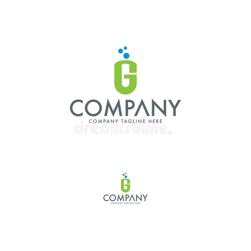 Letter G and medical logo template stock illustration