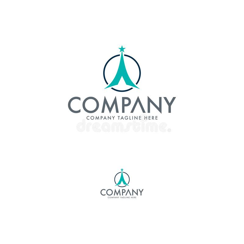 Modern Adventure Logo Design Template royalty free illustration