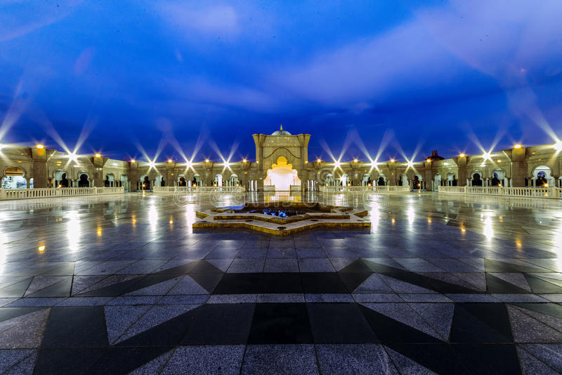Iconic Malaysian Islamic mosque exit stock photos