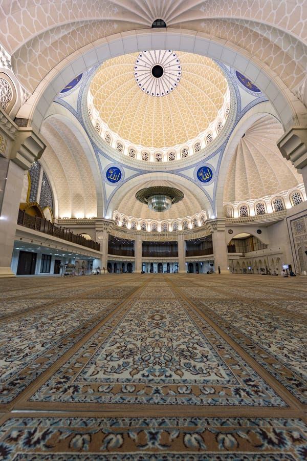 Iconic Malaysian Islamic mosque praying court stock photos