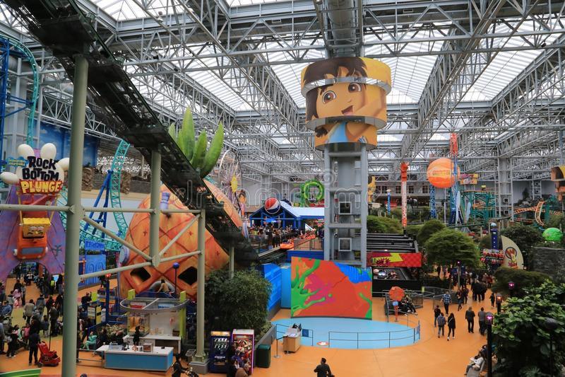 The Iconic Mall of America, Bloomington, Minnesota, USA. Opened in 1992, it is the largest mall in the United States in terms of number of stores and total floor stock images