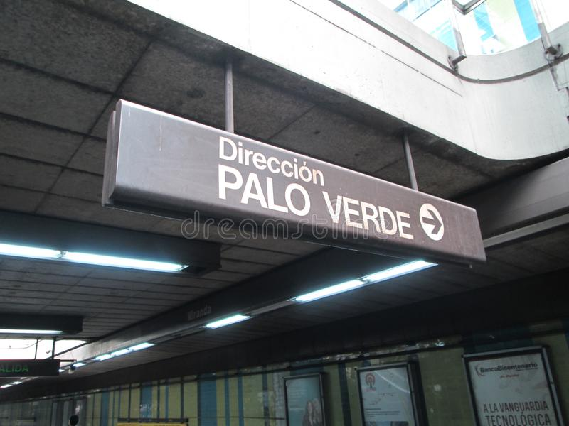 Iconic Metro station Miranda, previously called Parque del Este, Caracas, Venezuela.  stock photos