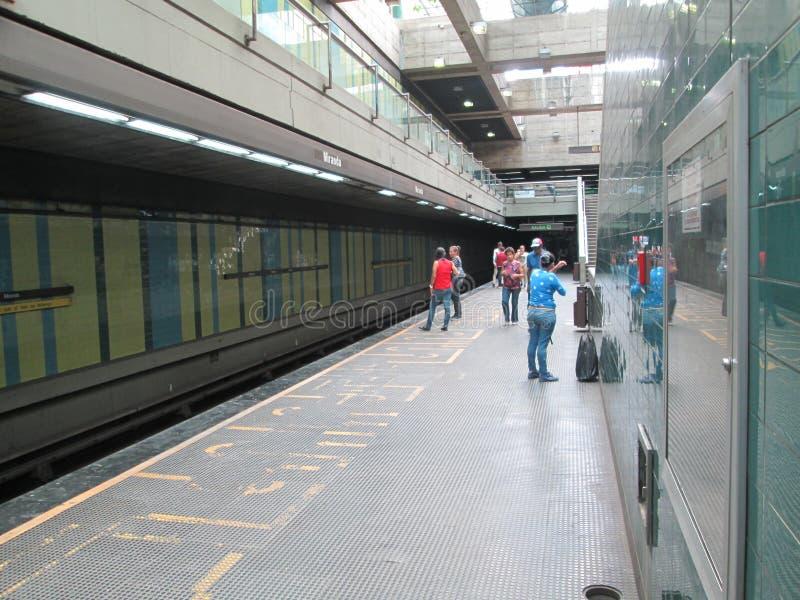 Iconic Metro station Miranda, previously called Parque del Este, Caracas, Venezuela.  stock images