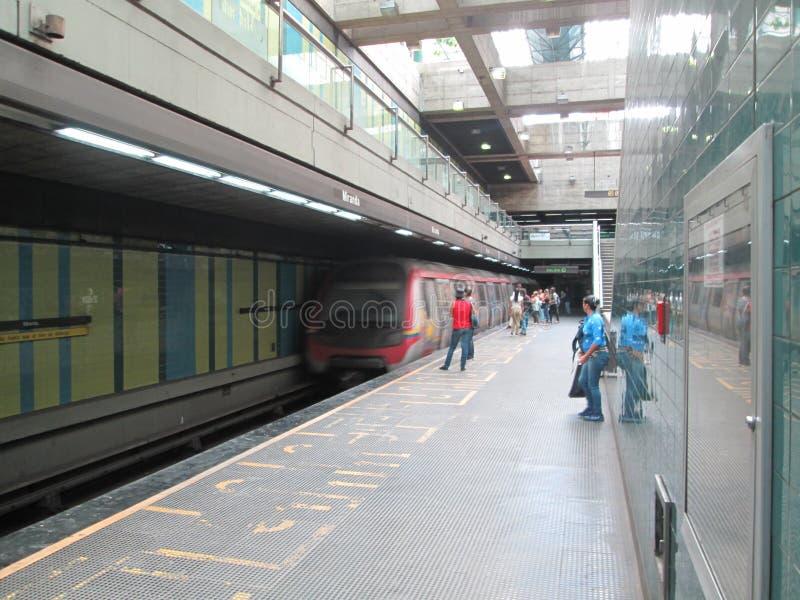 Iconic Metro station Miranda, previously called Parque del Este, Caracas, Venezuela.  royalty free stock image