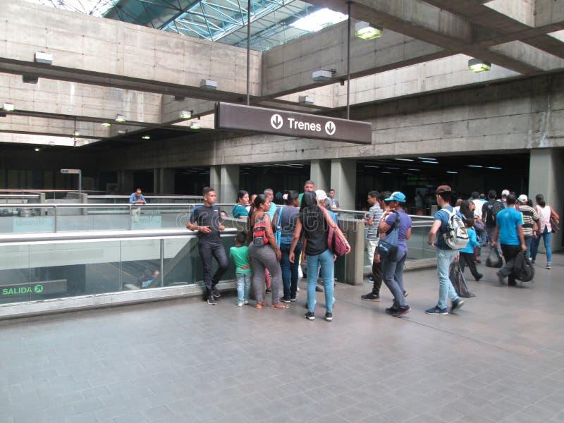 Iconic Metro station Miranda, previously called Parque del Este, Caracas, Venezuela.  royalty free stock images