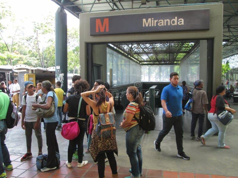 Iconic Metro station Miranda, previously called Parque del Este, Caracas, Venezuela.  stock image