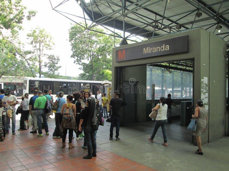 Iconic Metro station Miranda, previously called Parque del Este, Caracas, Venezuela.  royalty free stock photos