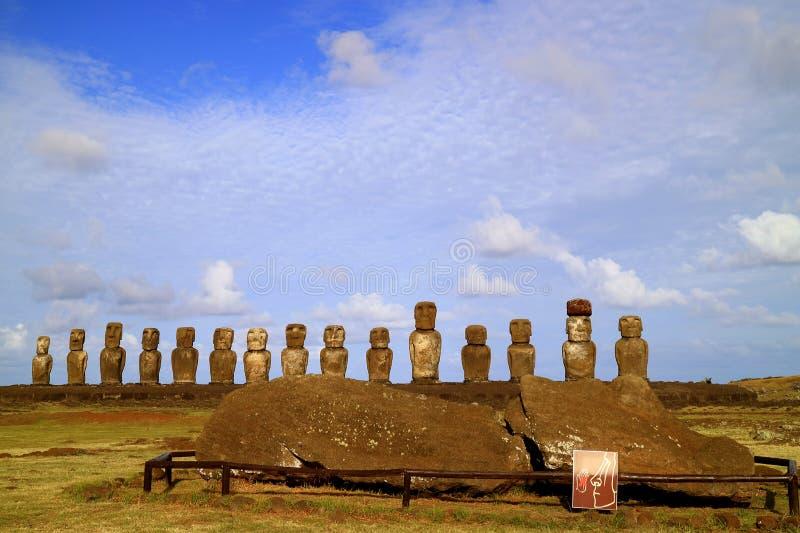 View Of 15 Moais, Ahu Tongariki, Easter Island, Chile