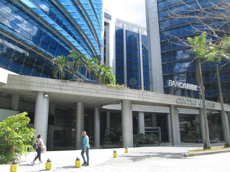 Iconic office center of the city of Caracas, Centro Galipan, Chacao, Caracas, Venezuela.  royalty free stock photo
