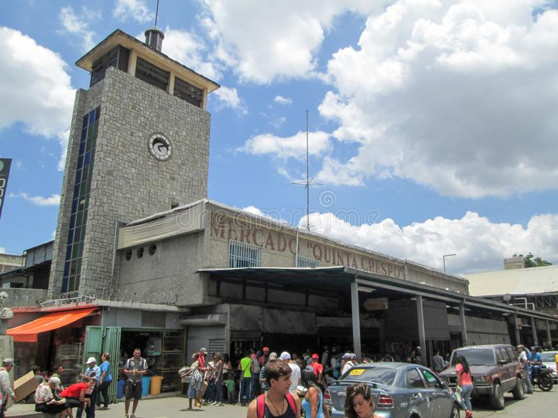 Iconic popular market in downtown Caracas, Quinta Crespo Market.  royalty free stock image