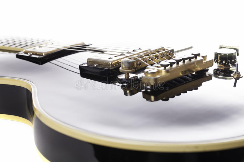 Iconic rock guitar. Iconic rock black and gold rock guitar. A classic musical instrument that has become a status symbol royalty free stock image