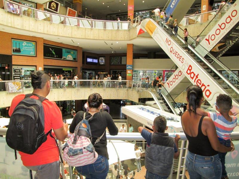 Iconic shopping center of the city of Caracas, El City Market Shopping Center,Caracas technological center,  near the Boulevard de. Sabana Grande, Caracas royalty free stock photo