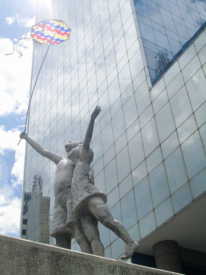 Iconic shopping center of the city of Caracas,Parque Cristal Shopping Center, in Los Palos Grandes, Chacao, Caracas, Venezuela.  stock photo