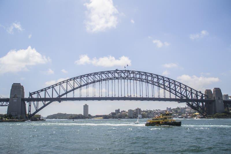 Iconic Sydney city landmarks, Australia. Travel/visit Australia. Iconic Sydney skyline/landscape view of worldwide famous Opera house and Harbour Bridge. Most royalty free stock images
