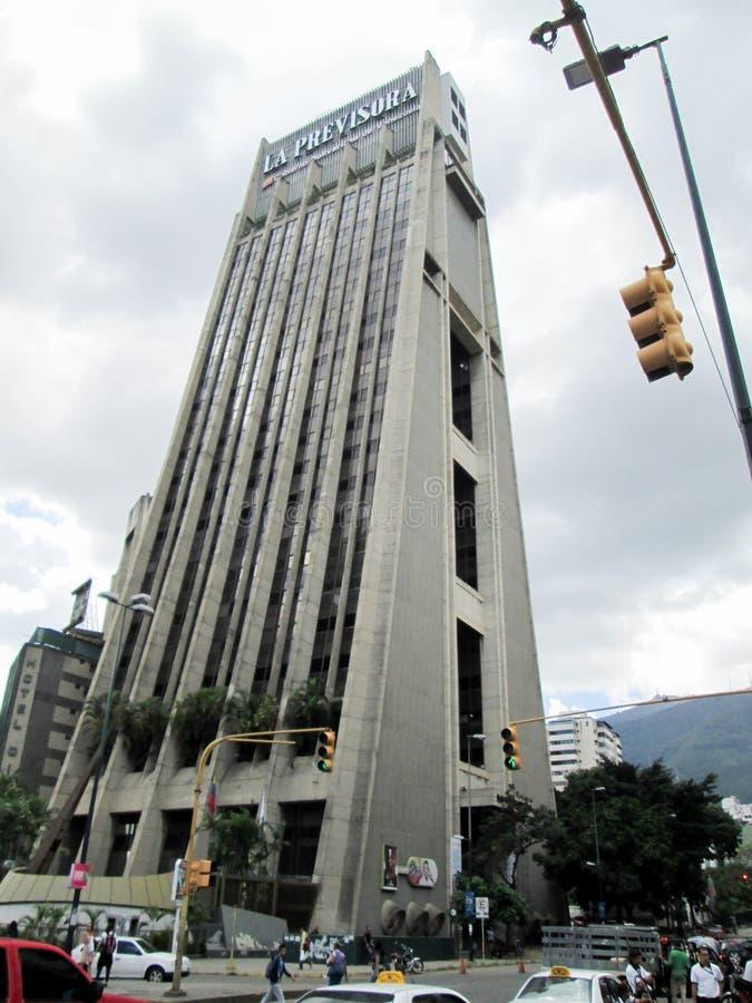Iconic tower of the city of Caracas, La Previsora Tower, symbol of modernity of the metropolis, Caracas, Venezuela.  royalty free stock photo