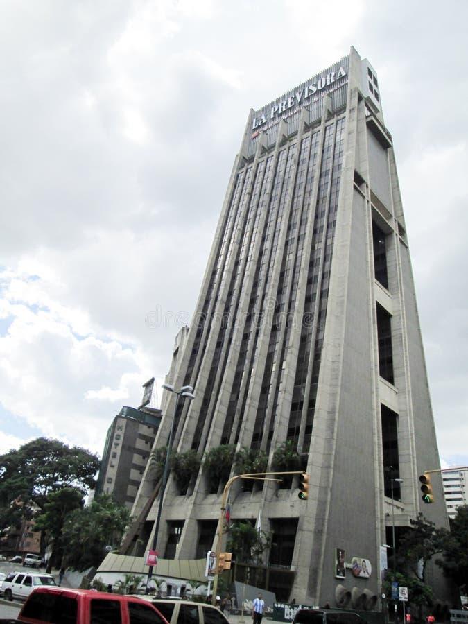 Iconic tower of the city of Caracas, La Previsora Tower, symbol of modernity of the metropolis, Caracas, Venezuela.  stock photos