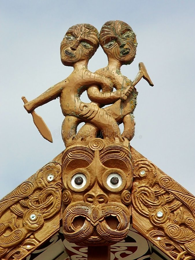 Iconic traditional carving royalty free stock photo