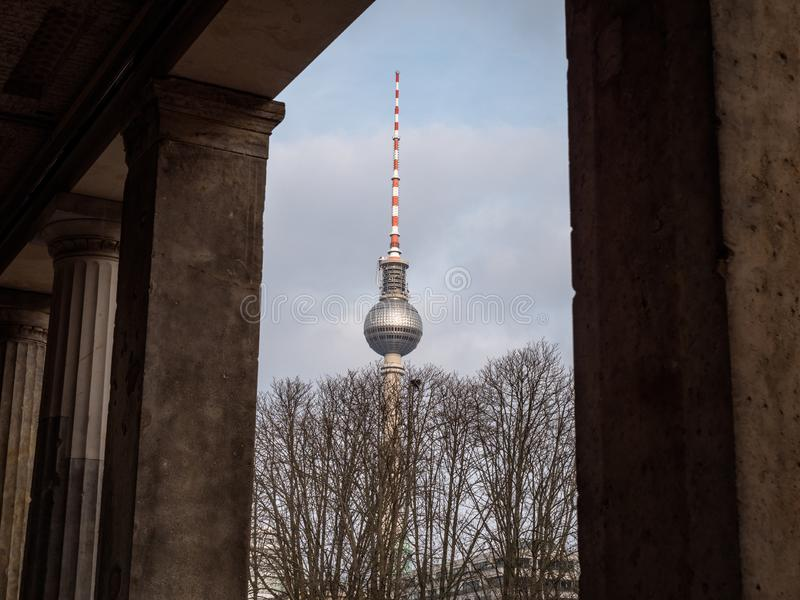 Iconic Berlin TV Tower Building. Iconic TV Tower Building on the Berlin skyline royalty free stock photos