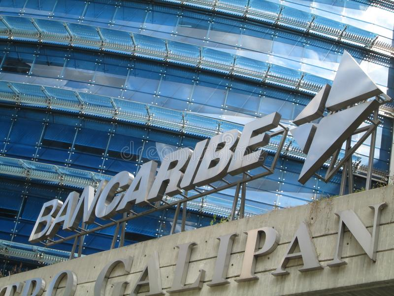 Iconic Venezuelan bank, Bancaribe, Chacao, Caracas, Venezuela. Iconic Venezuelan bank, logo of the Bancaribe, Chacao, Caracas, Venezuela royalty free stock images