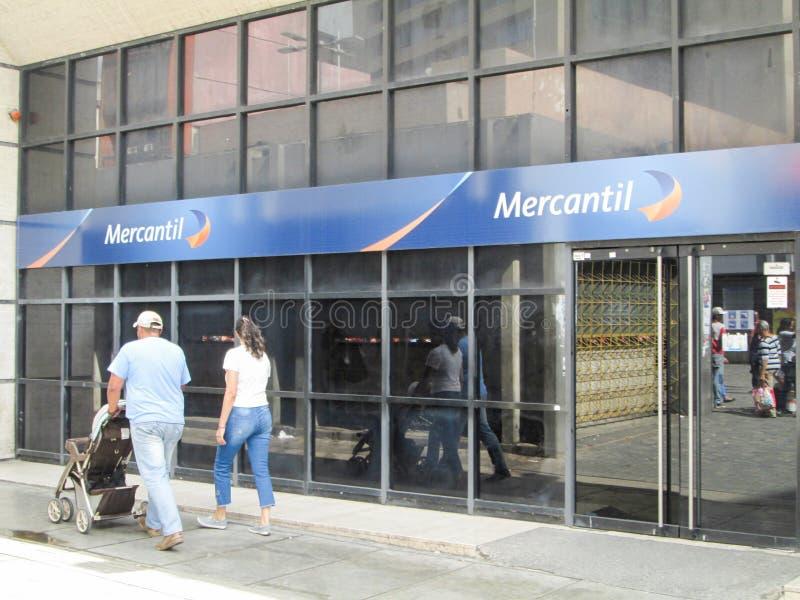 Iconic Venezuelan bank, Banco Mercantil, on Boulevard de Sabana Grande, Caracas, Venezuela.  royalty free stock photography
