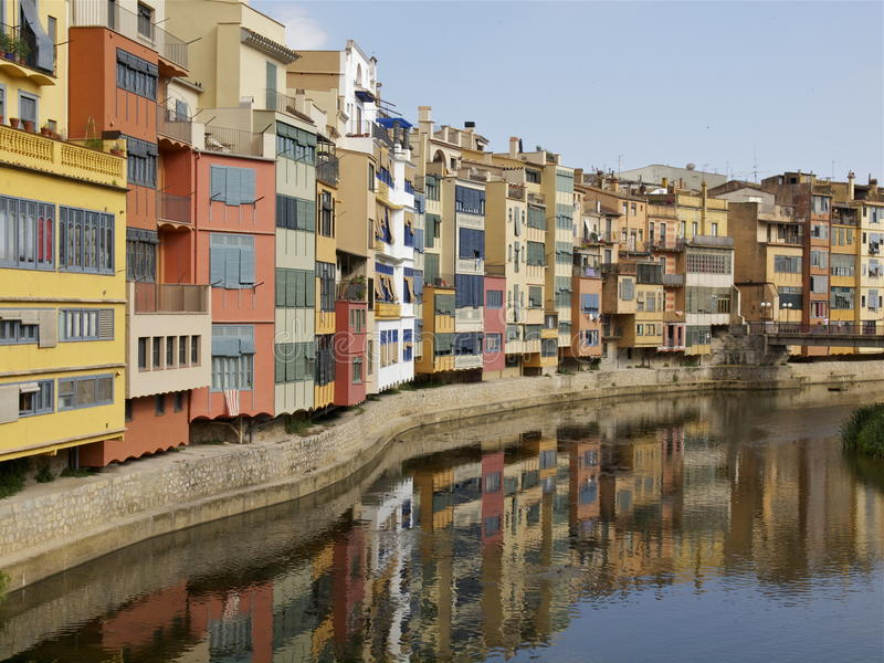 Iconic View Of Girona Stock Photography