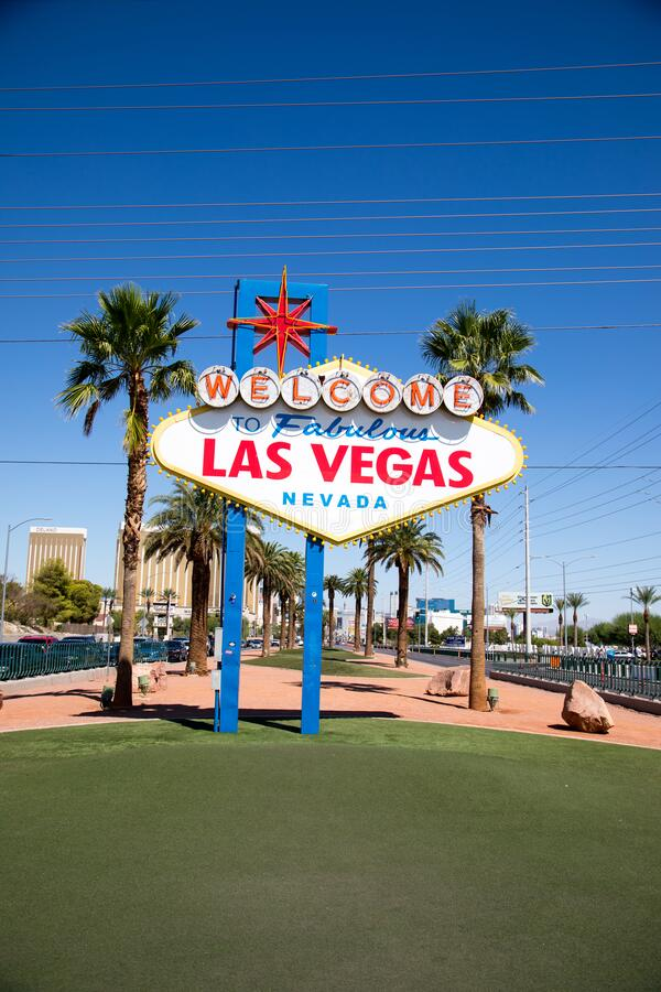 Iconic Welcome to Fabulous Las Vegas Sign immagini stock
