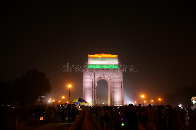 Iconisch India Gate stock foto's