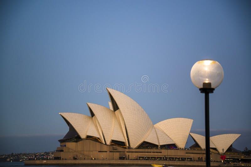 Iconisch Sydney Opera House, Sydney, Australië stock afbeelding
