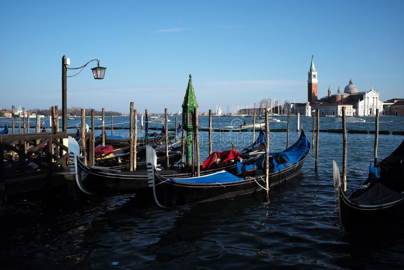 Iconische gondel in Veneti? royalty-vrije stock afbeelding