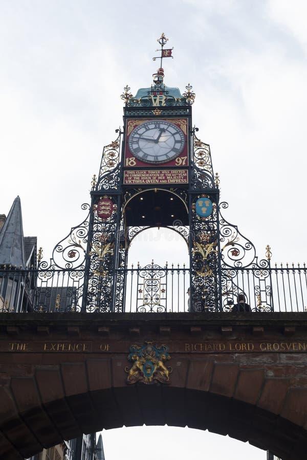 Iconische Klokketoren van Chester stock afbeelding