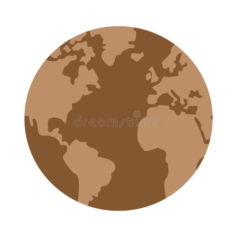 icono árido de la tierra del planeta stock de ilustración