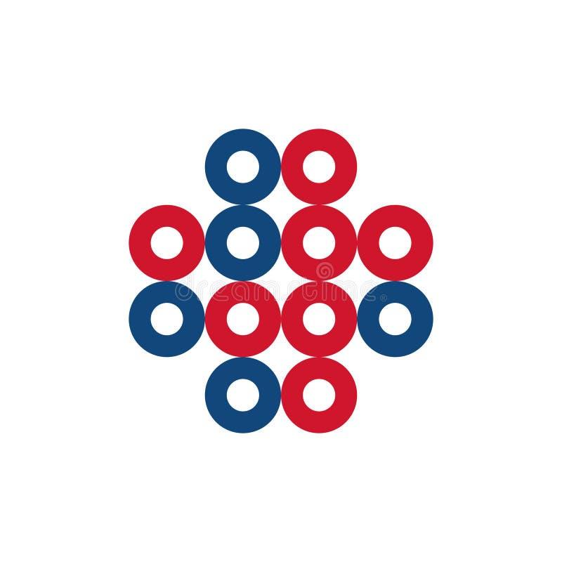 Icono único cruzado médico del símbolo de la célula del círculo libre illustration