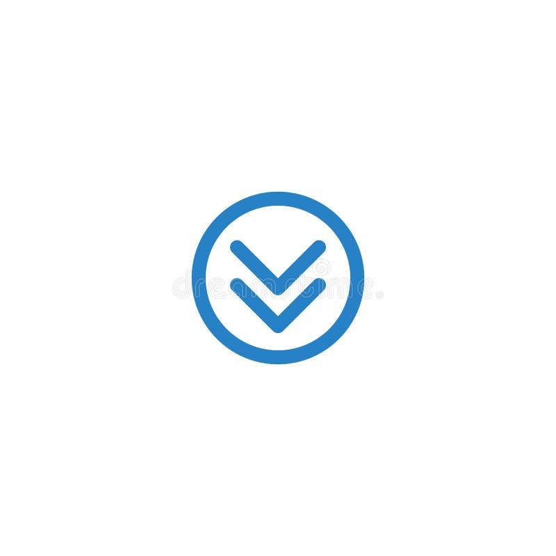 Icono único moderno del botón de la transferencia directa libre illustration