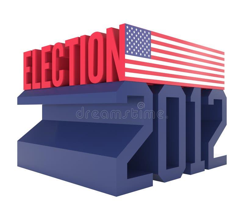 Icono 2012 de la elección presidencial de los E.E.U.U. stock de ilustración